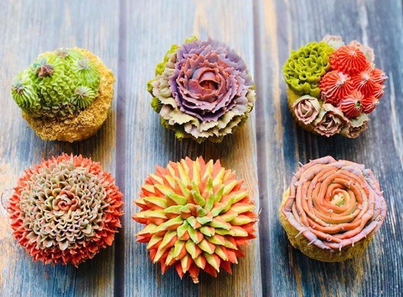 Cacti Succulent Gluten Free Cupcakes