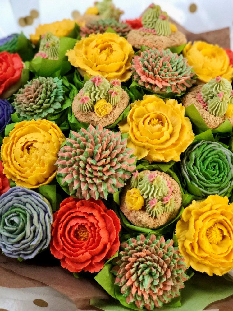 Floral Bouquet Gluten free Cupcakes