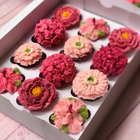 Pink Floral Mini Cupcakes in Old City