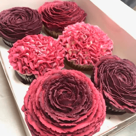 Pink Floral cupcakes