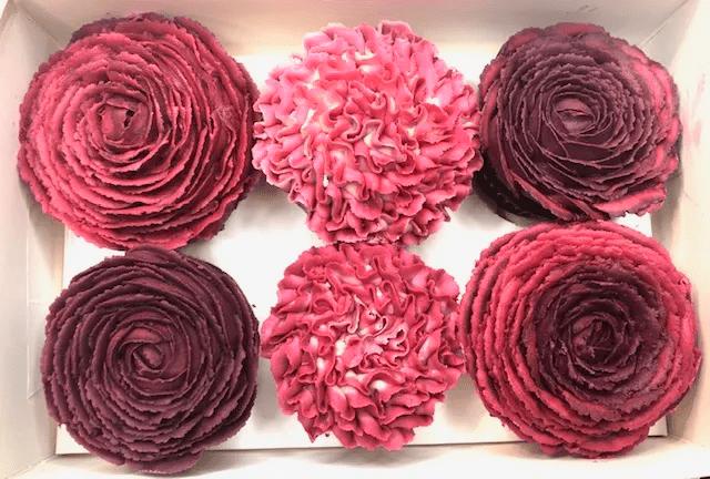 Purpled Hued Cupcakes