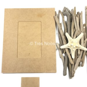 Driftwood sticks with craft photo frame