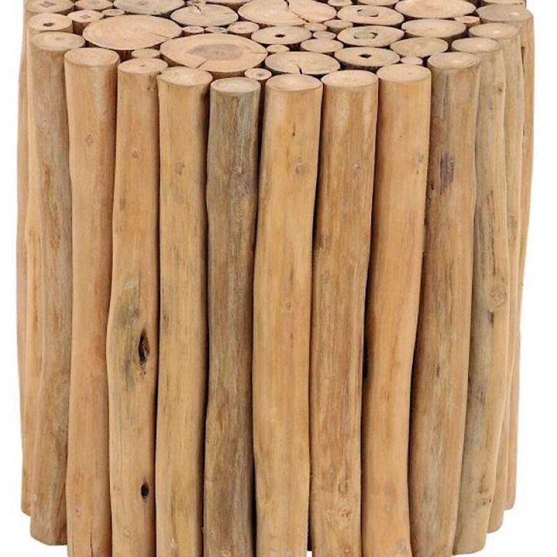 Driftwood wooden teak beach rustic stool or table
