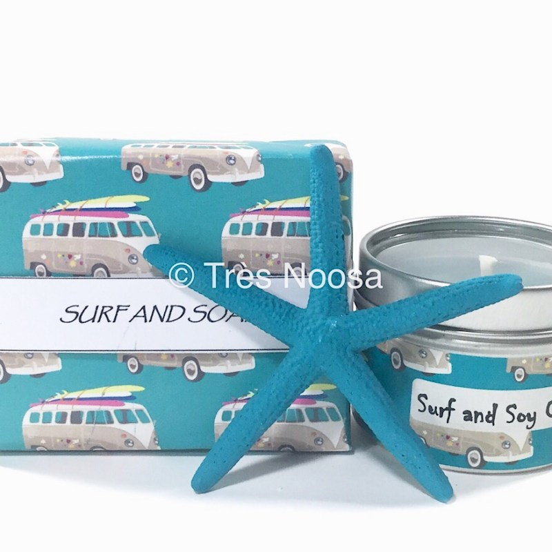 combi van and surf soap and candle pack