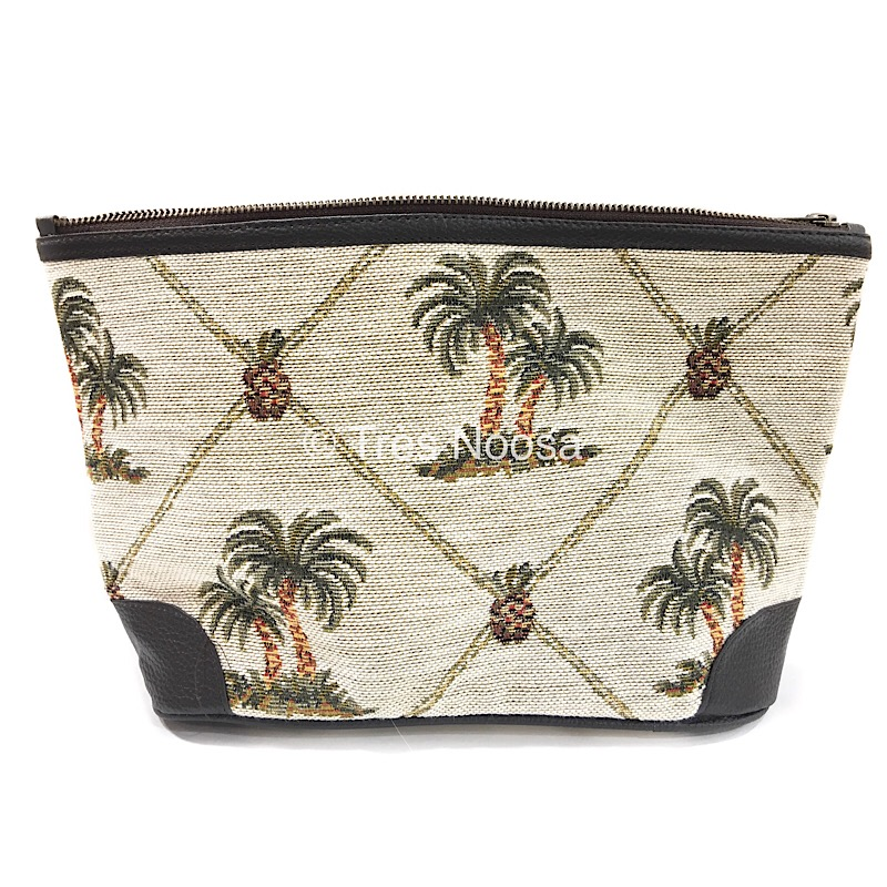 Tommy Bahama travel kit or toiletry for men made of cotton canvas Palmtree design waterproof