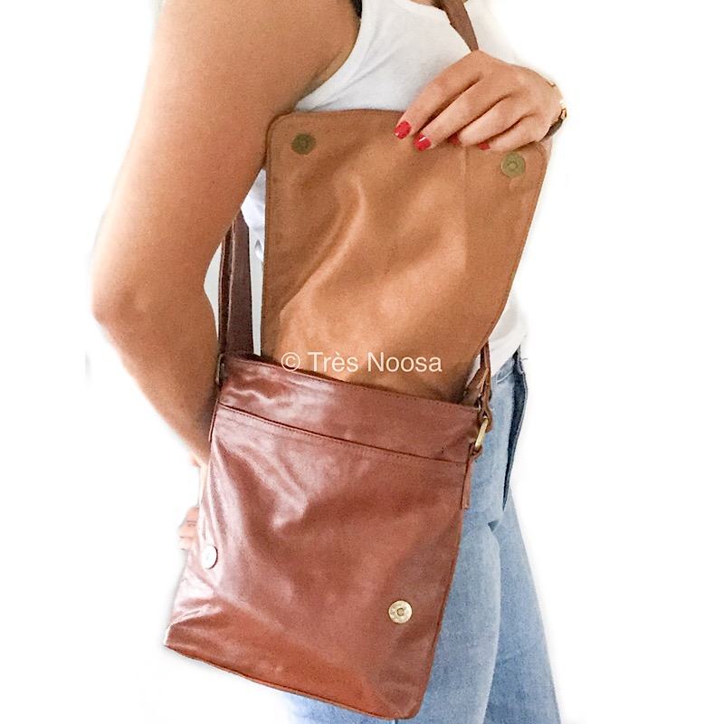 Genuine goat leather shoulder or handbag with adjustable strap