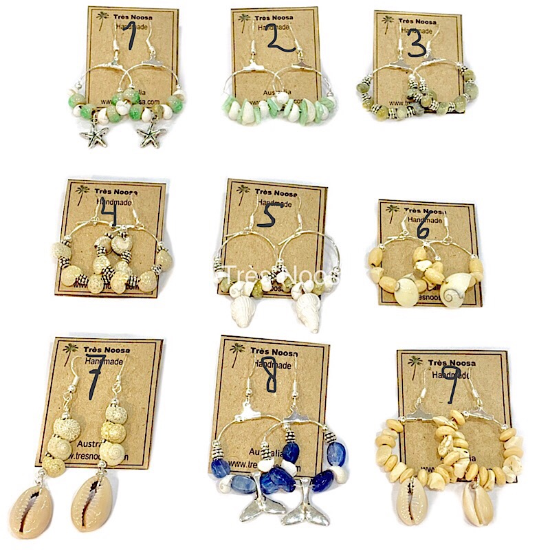 Handmade silver shell earrings