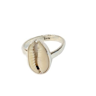 925 sterling silver Cowry ring
