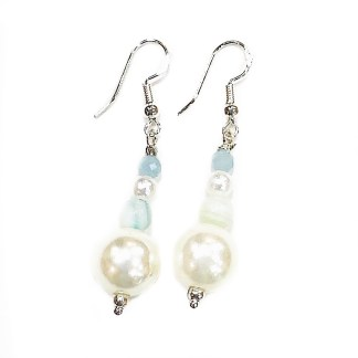 925 sterling silver earrings silver pearl