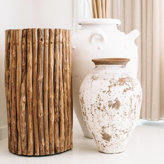 Driftwood stick stool
