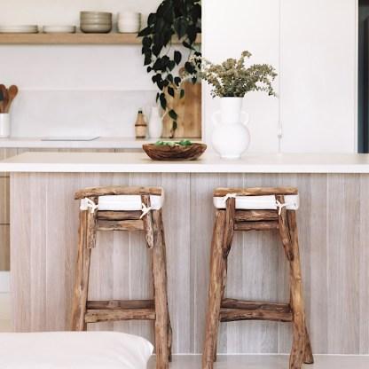Driftwood bar stool
