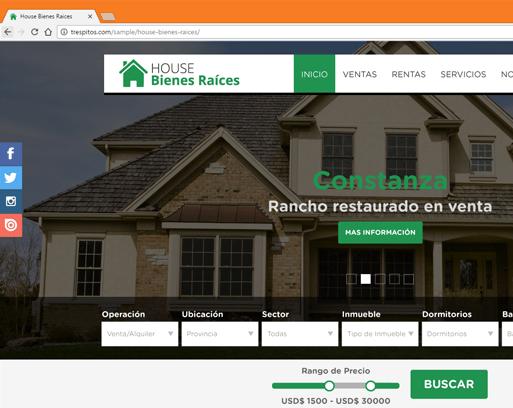Boceto de Página Web para Inmobiliarias