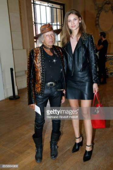 PARIS, FRANCE - SEPTEMBER 30: James Goldstein (L) and guest attend the Elie Saab show as part of the Paris Fashion Week Womenswear Spring/Summer 2018 on September 30, 2017 in Paris, France. (Photo by Bertrand Rindoff Petroff/Getty Images)