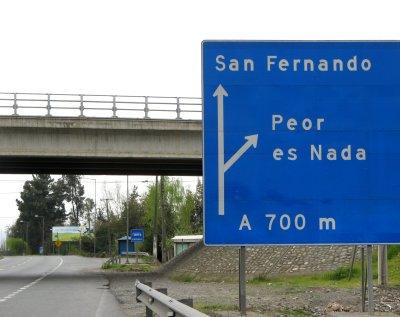 peor es nada - ciekawostki z Chile