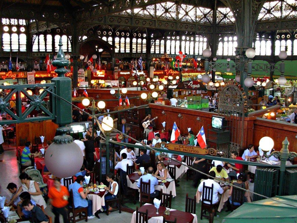 mercado central gdzie zjesc w Santiago