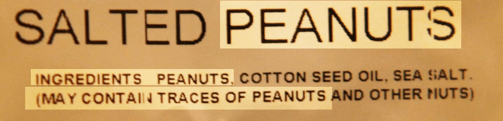Peanuts May Contain Traces Of Peanuts