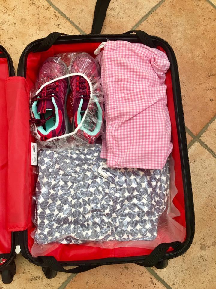 trevaligie, viaggi on the road, preparare la valigia, valigia dei bambini