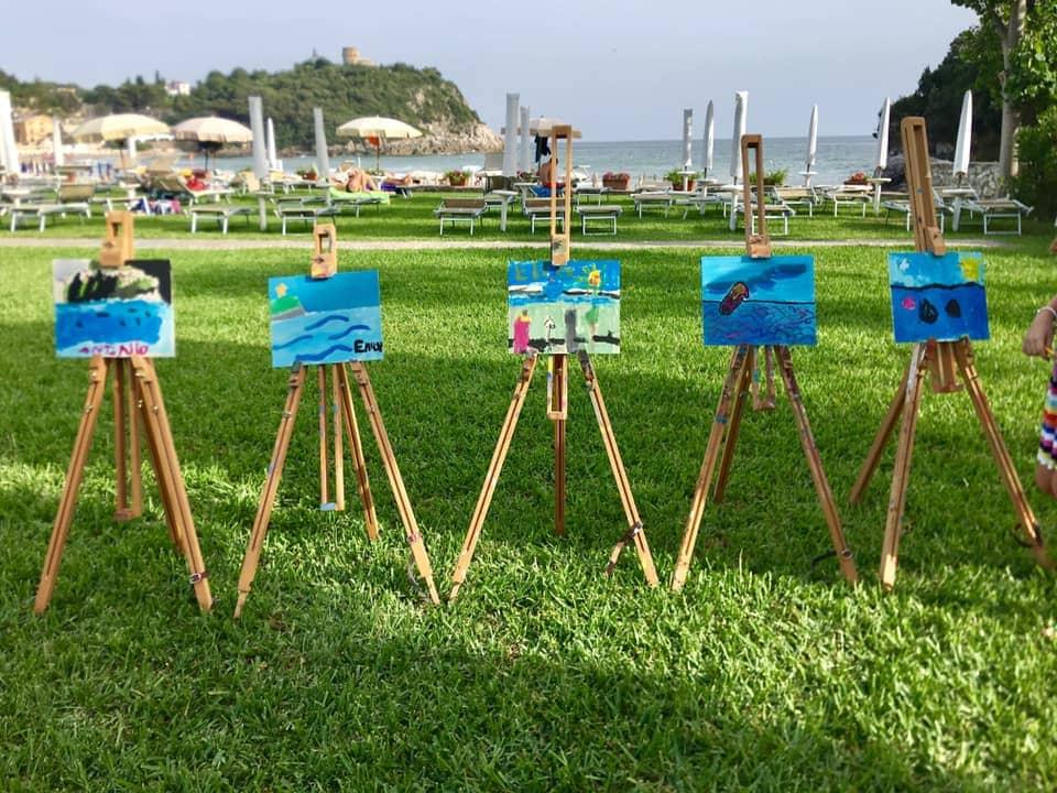 Corso di pittura, mare Gaeta, trevaligie