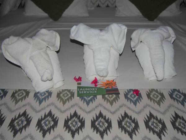 ゾウさんのタオル