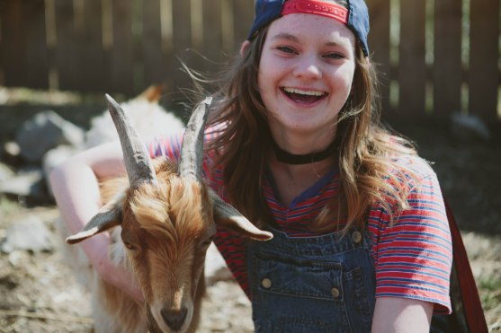 One of the bonus tasks for the films was to film with a goat, which led many students to the Urban Farm.