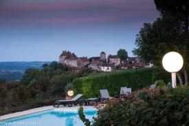 View of the town of Loubressac from our hotel, Le Relais de Castelnau.