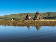 Native American huts. Indian Beach.