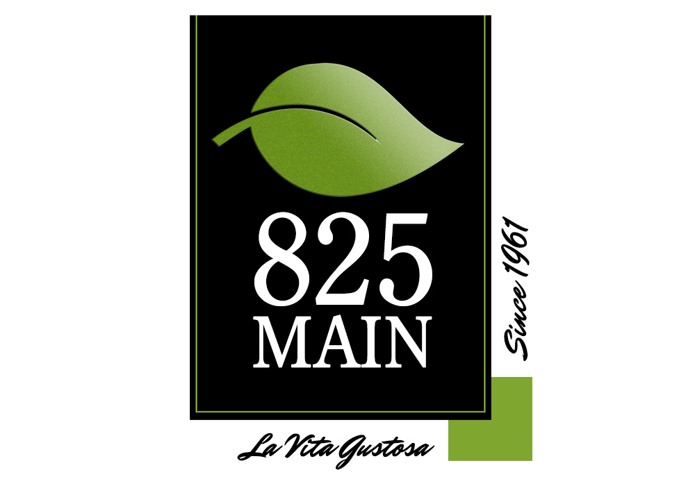825 Main logo - designed by Trevellyan.biz, Columbia County, NY graphic designer