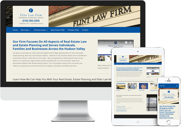 Paul Flint Attorney website development
