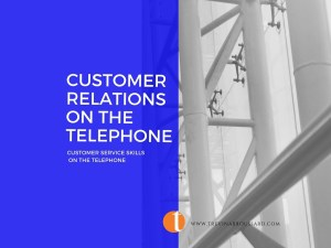 image with text customer relations on the telephone picture of bars