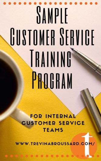 sample customer service training program