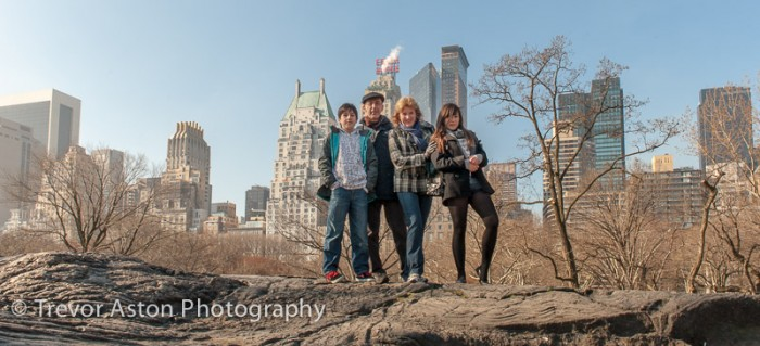 family in Central Park, New York