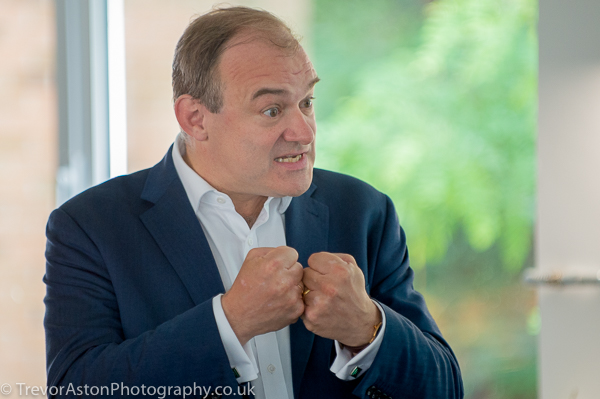 Sir Ed Davey at Kingston Expo