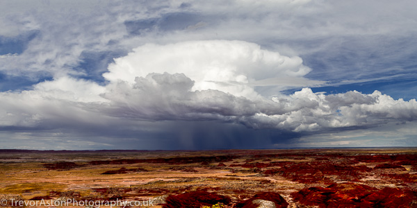 storm clouds over the Painted Desert in Arizona