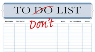 not-to-do list