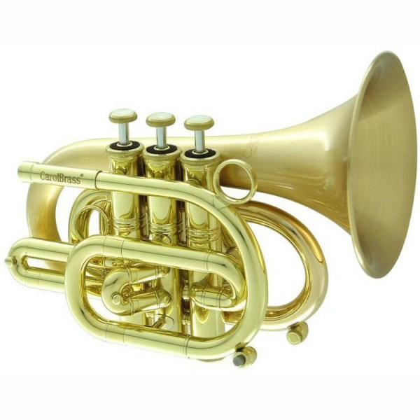 CarolBrass CPT 3000 GLS SLB Pocket Trumpet Square