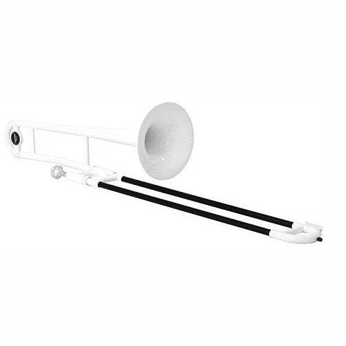 Tromba White Plastic Trombone 1