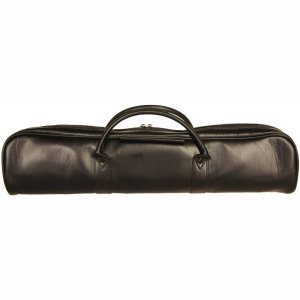Yamaha Flute Case And Case Cover Black Leather