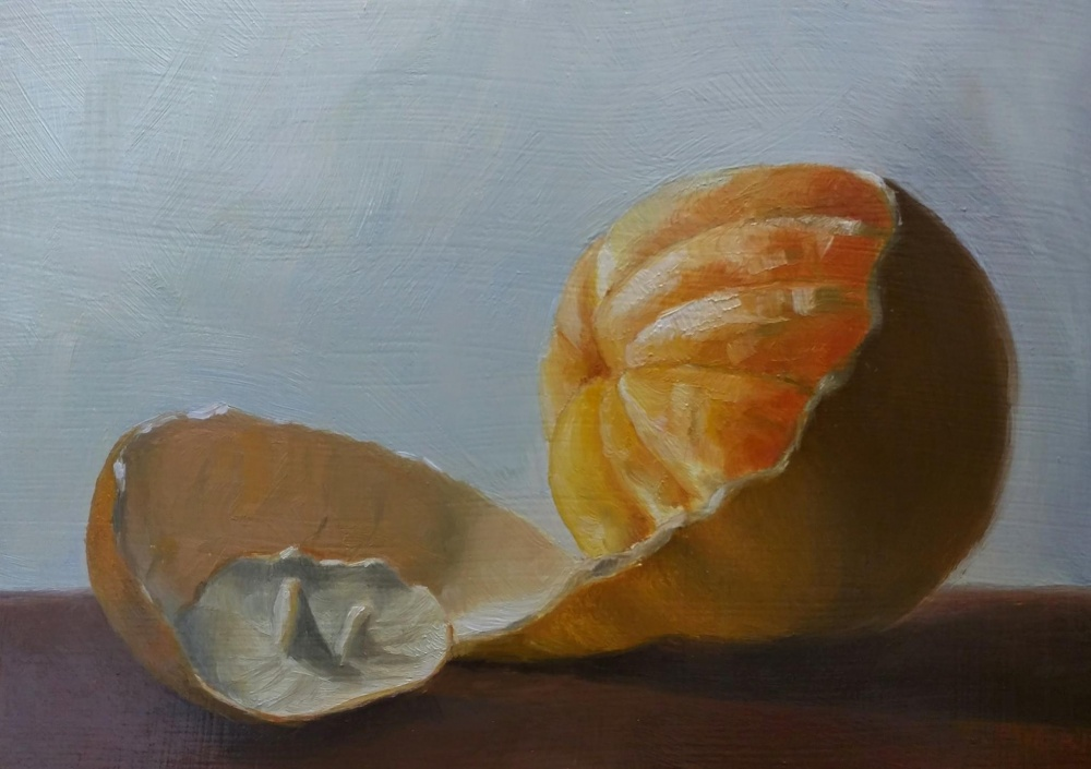 """Orange You Glad to See Me?"" - Oil - 5x7"