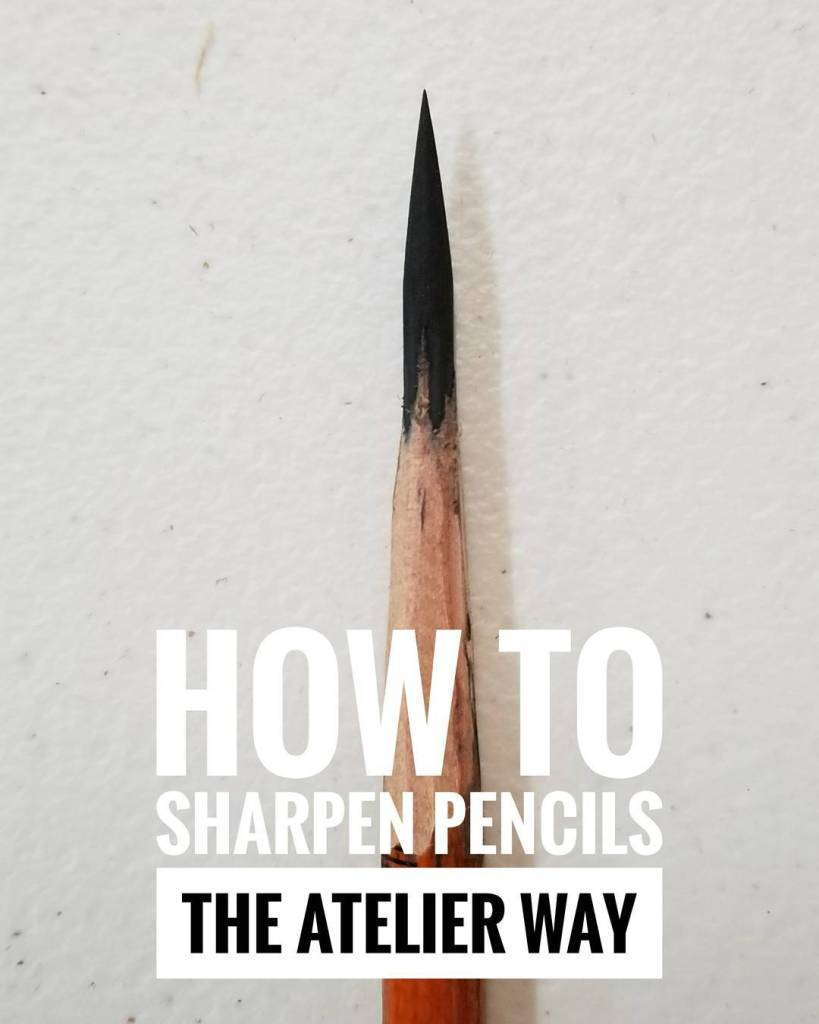 How To Sharpen Pencils the Atelier Way