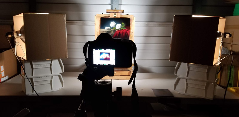 Setup for Photographing Artwork