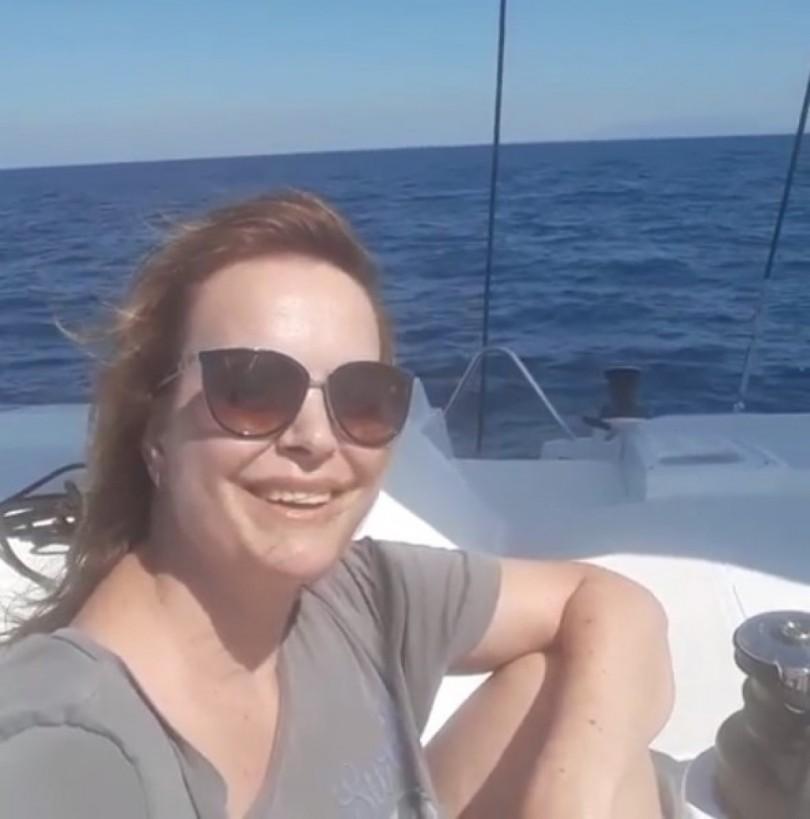 Мариана Векилска на яхта