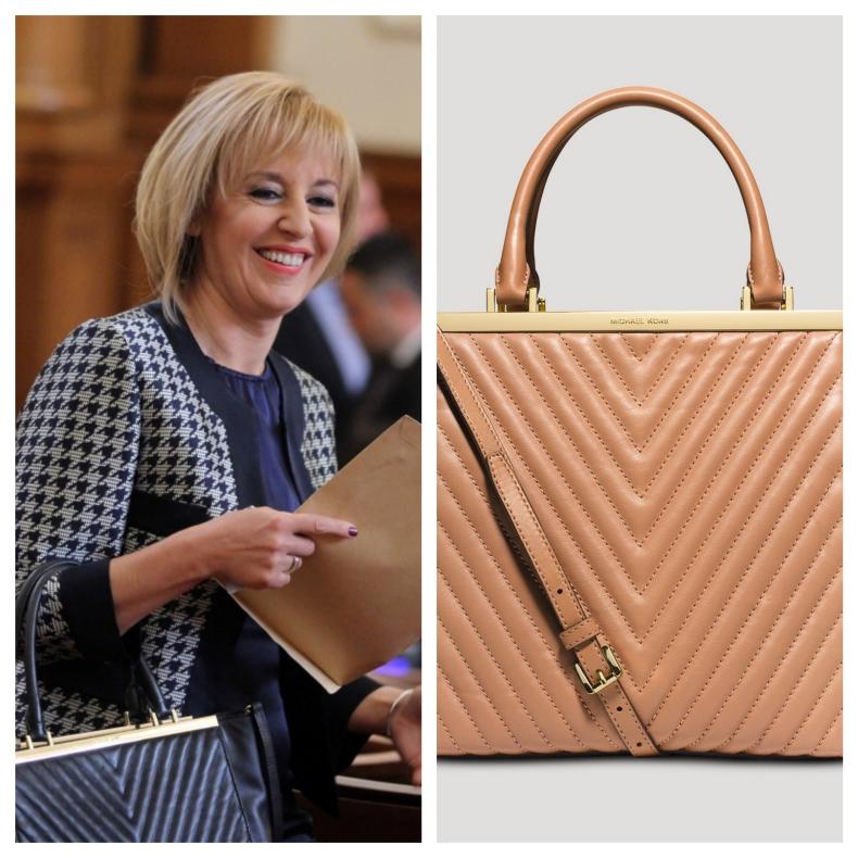 Мая Манолова с чанти за 1500 евро