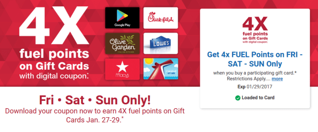 Earn 4x Fuel Points On Gift Cards At King Soopers This Weekend 1 27