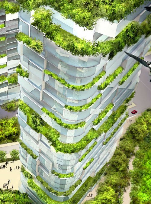 Ecological architect feautures ventilated lift