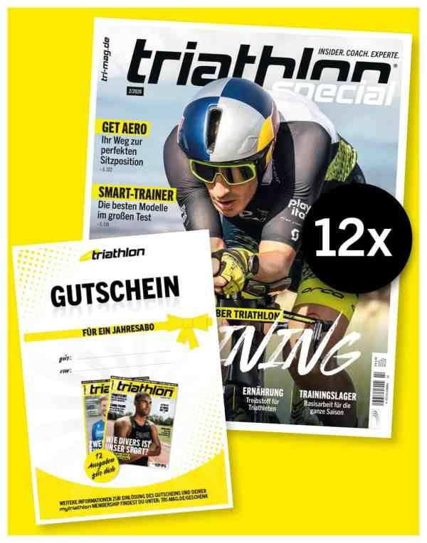 triathlon Abo Print Gutschein