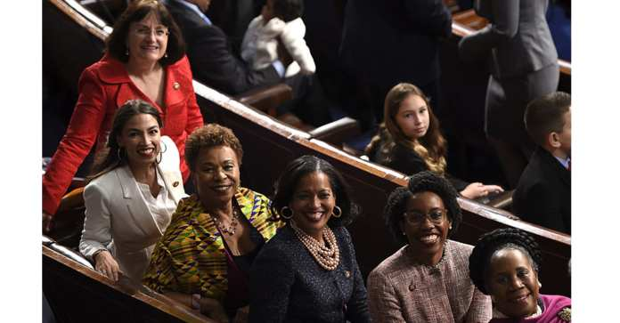 There's a crew of new women in Congress who've become fast friends since the election. Reps. Rashida Tlaib, Ayanna Pressley, Ilhan Omar, and Alexandria Ocasio-Cortez have become instant progressive icons and visible markers of a long-overdue shift in legislative demographics. (Photo: Courtesy Office of Rep. Barbara Lee)
