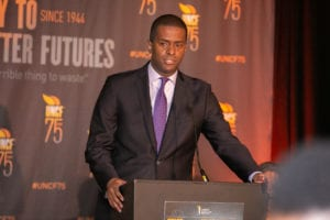 Attorney and CNN political analyst Bakari Sellers served as master of ceremonies