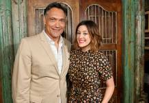 "Jimmy Smits and Caitlin McGee were among the ""Bluff City Law"" stars at the Itta Bena restaurant on Beale Street for a press junket Tuesday. (Photo: Greg Campbell/NBC)"