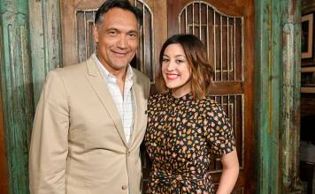 """Jimmy Smits and Caitlin McGee were among the """"Bluff City Law"""" stars at the Itta Bena restaurant on Beale Street for a press junket Tuesday. (Photo: Greg Campbell/NBC)"""