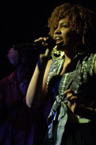 Miss Eaves, a Brooklyn-based emcee, revisited old stomping grounds at Phuzz Phest.